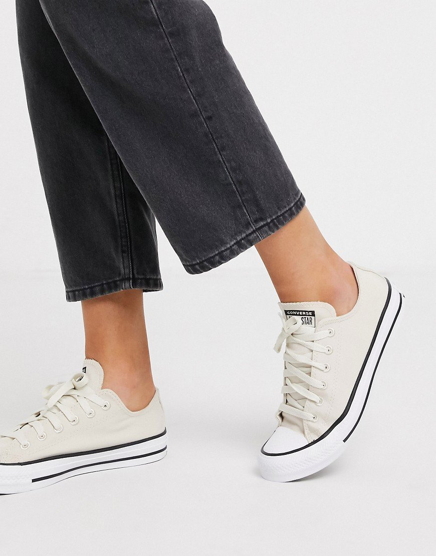 Converse - Chuck Taylor Ox All Star Renew - Sneakers crema in ...